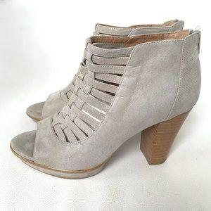 Sofft Brand Renita Light Grey Caged Toe Booties